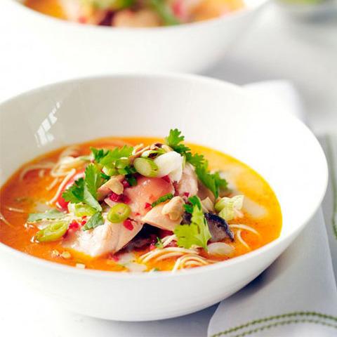 Готовое блюдо — Тайский рыбный суп