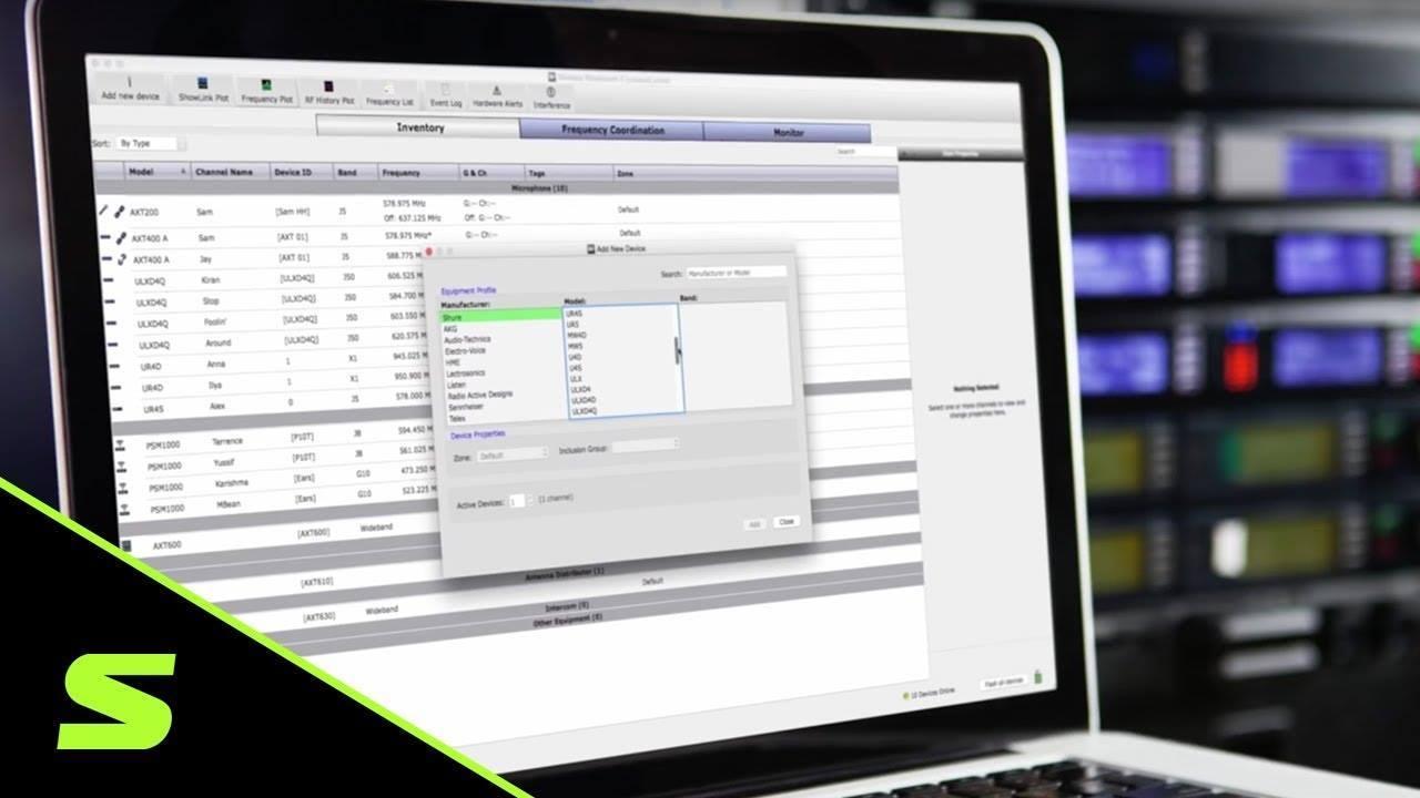 Вышла новая версия ПО Shure Wireless Workbench 6.13