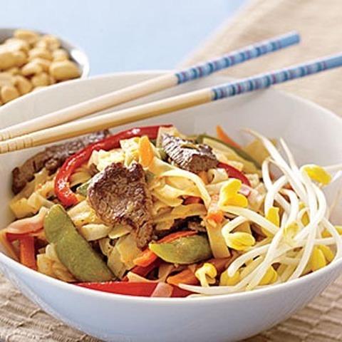 Готовое блюдо — Лапша с говядиной по-тайски