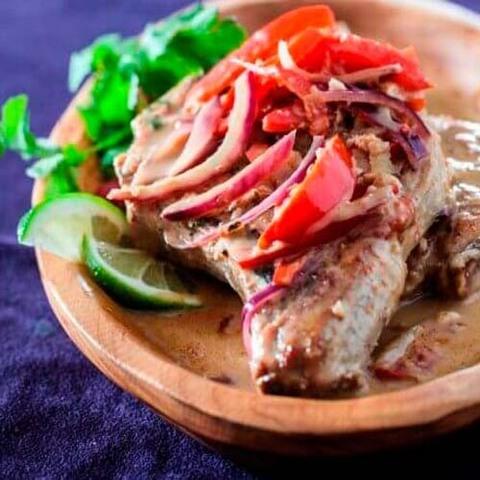 Готовое блюдо — Свинина на косточке в тайском соусе