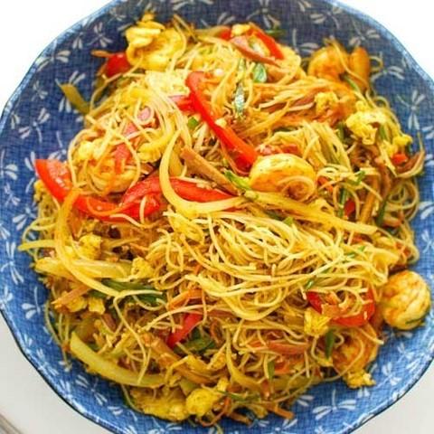 Готовое блюдо — Лапша по-сингапурски