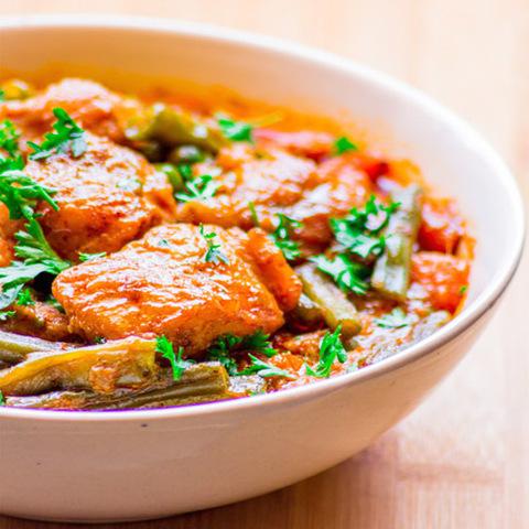 Готовое блюдо — Рыба в красном карри