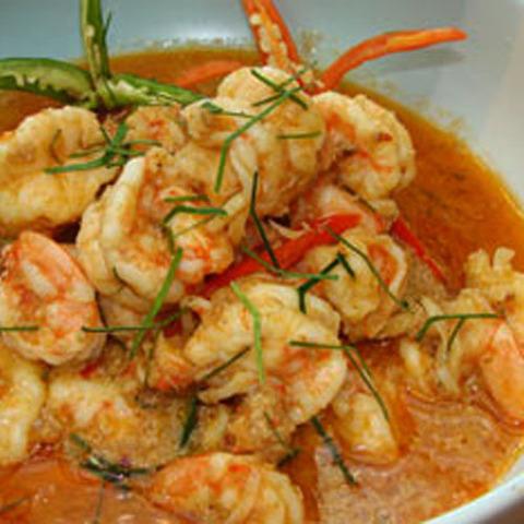 Готовое блюдо — Карри Пинанг с креветками