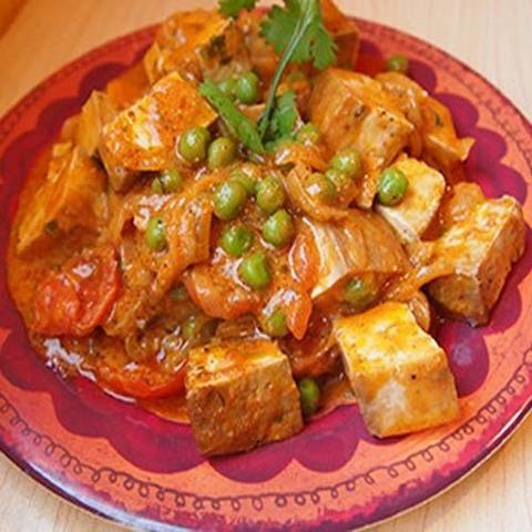 Готовое блюдо — Тофу в кокосовом соусе