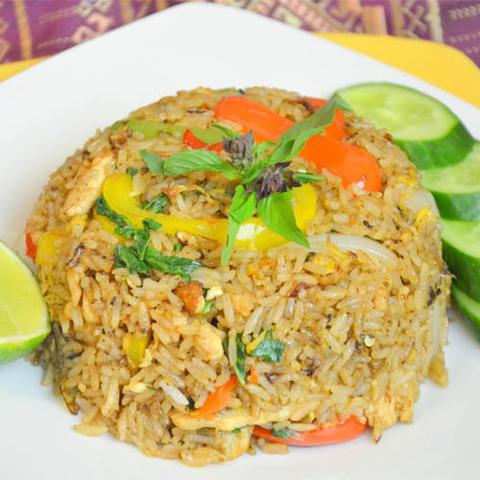 Готовое блюдо — Тайский жареный рис по-домашнему