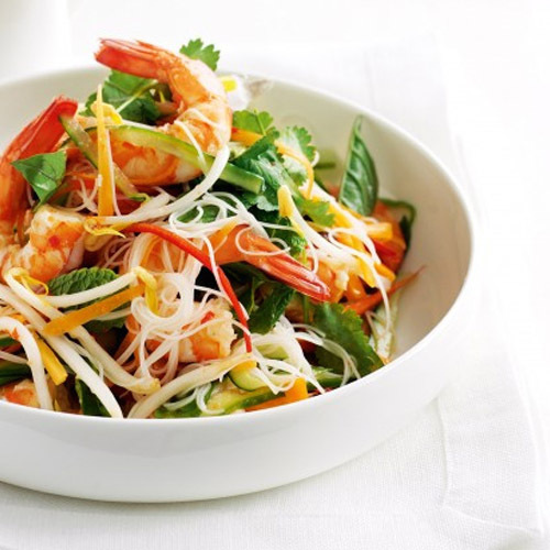 Вьетнамский салат с креветками