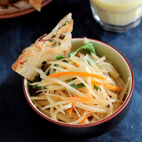 Китайский салат из сырой картошки