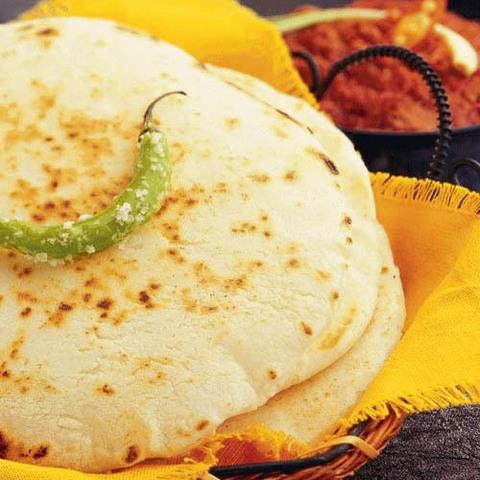 Готовое блюдо — Индийские рисовые лепешки