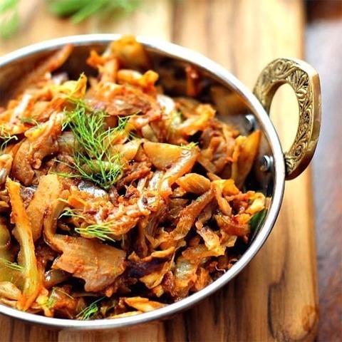Готовое блюдо — Тушеная капуста по-индийски