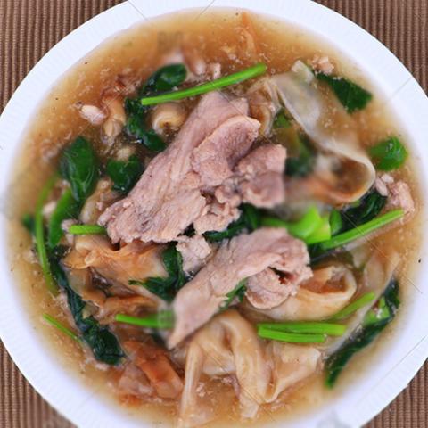 Готовое блюдо — Свинина с лапшой в соусе