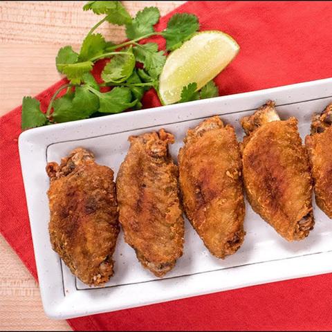 Готовое блюдо — Куриные крылышки с рыбным соусом