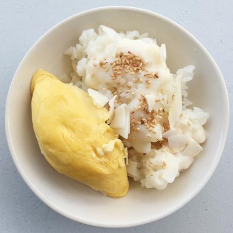 Готовое блюдо — Клейкий рис с дурианом