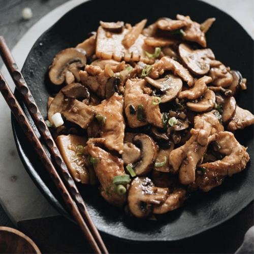 Курица с грибами по-китайски