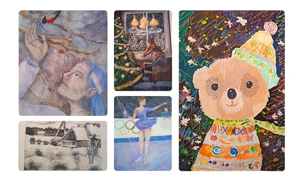«Умничка» отметила юных художников «Зимней сказки-2021»