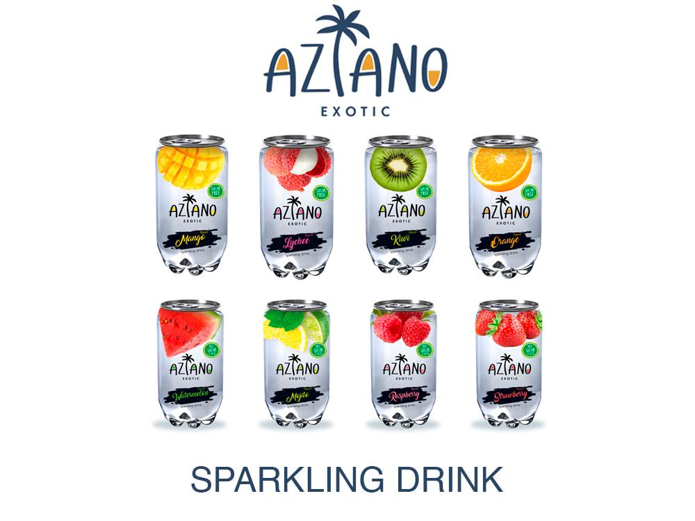 Хотели сообщить, что к нам наконец приехали газированный напитки Aziano