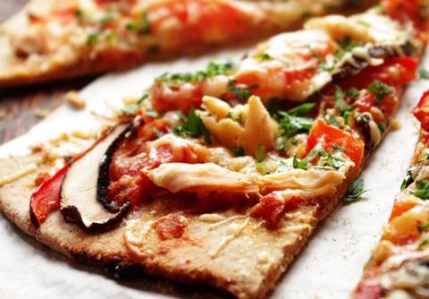Цельнозерновая пшенично-ржаная пицца