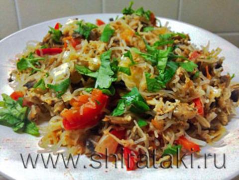 Низкоуглеводный рецепт с овощами и грибами