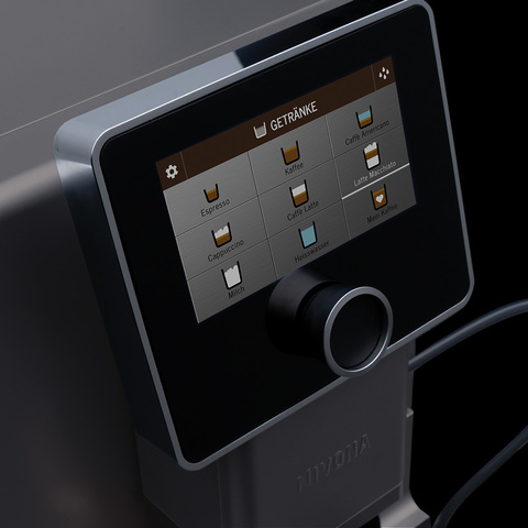 Сенсорный TFT дисплей в кофемашинах Nivona