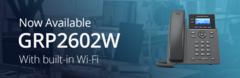 Компания Grandstream выпустила GRP2602W - 2-линейный IP-телефон с Wi-Fi