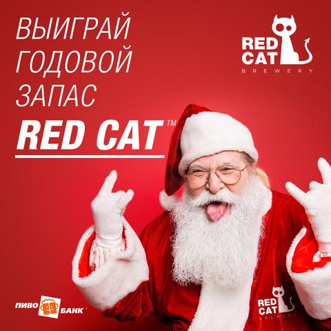 Условия акции «Годовой запас пива от Red Cat».