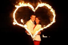 Запечатлите свои прекрасные моменты в огненном сердце