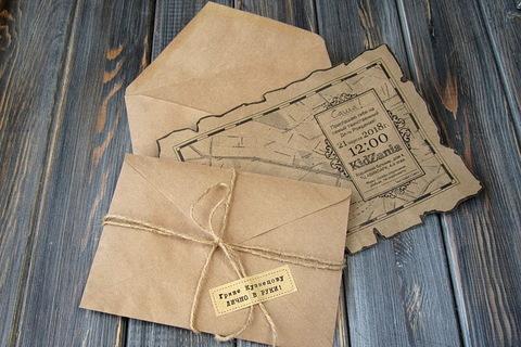 Делаем приглашения в стиле старинной пиратской карты.