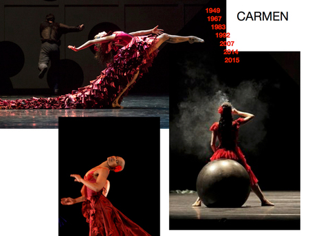 7 versions of Carmen ballet