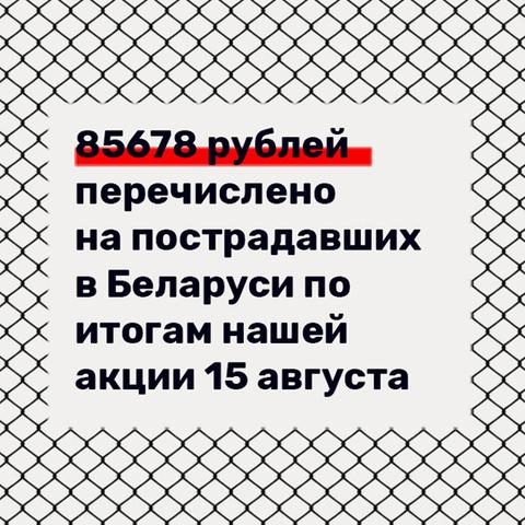 Акция в поддержку жителей Беларуси