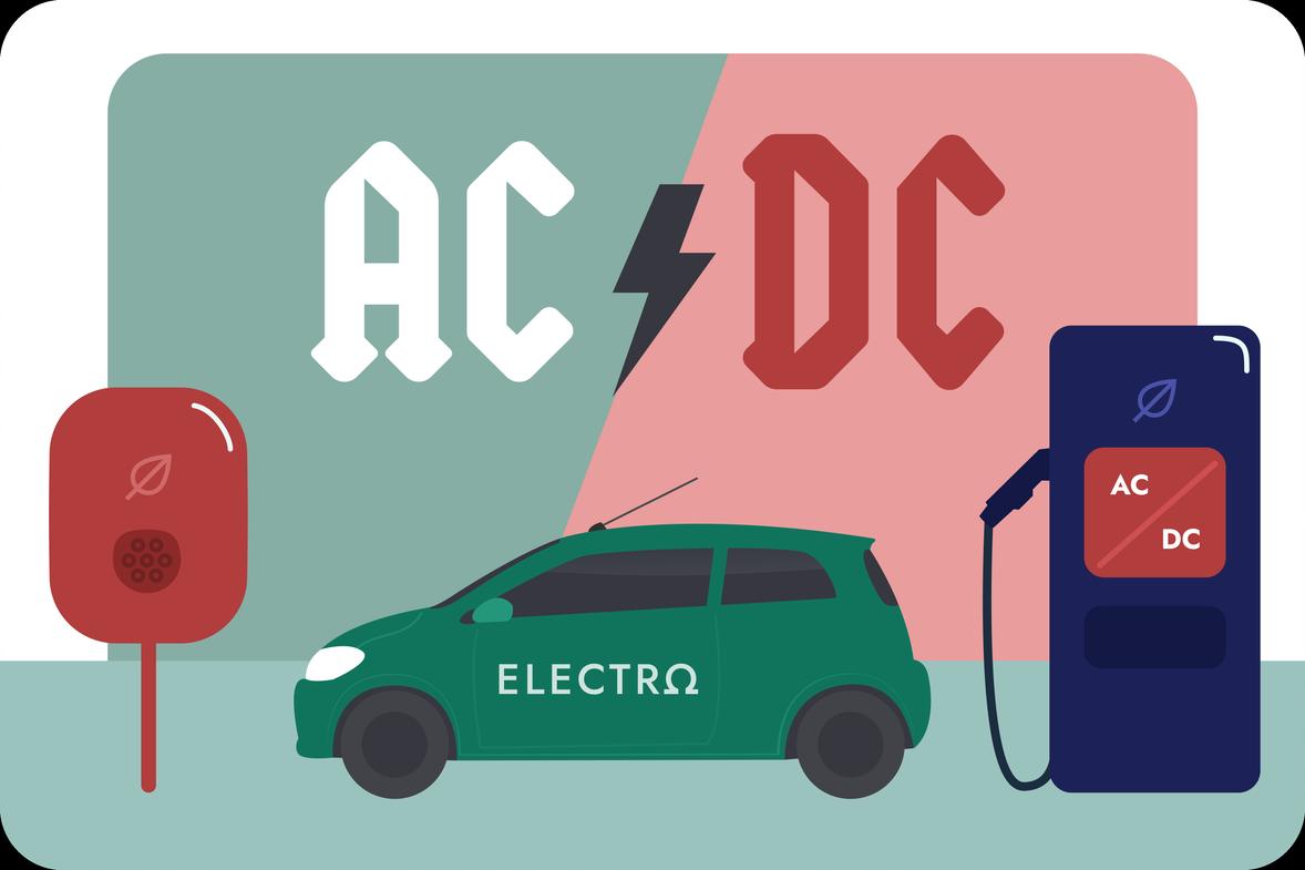 Отличие быстрых DC и медленных АС станций
