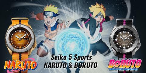 Seiko 5 Sports встречает НАРУТО и БОРУТО.
