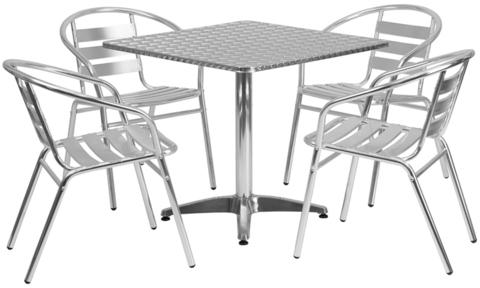 Алюминиевая мебель для уличных кафе