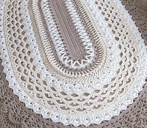 Схемы по вязанию ковра крючком из полиэфирного шнура