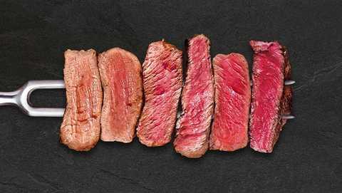 Степени прожарки стейка. Миф о сыром мясе «с кровью»