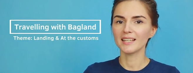 Travelling with Bagland - Landing and At the customs