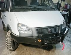 Установка силовых бамперов на ГАЗ Соболь