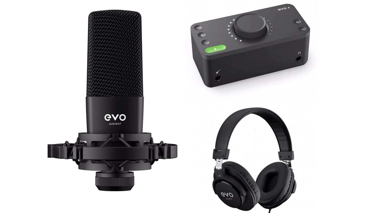 Стартовый комплект для звукозаписи Audient EVO Start Recording Bundle