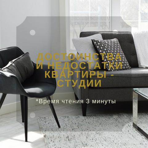 Достоинства и недостатки квартир-студий