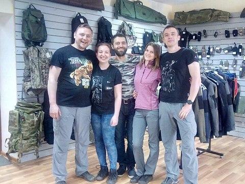 Визит чемпионов в магазин SHOOTER-MAN