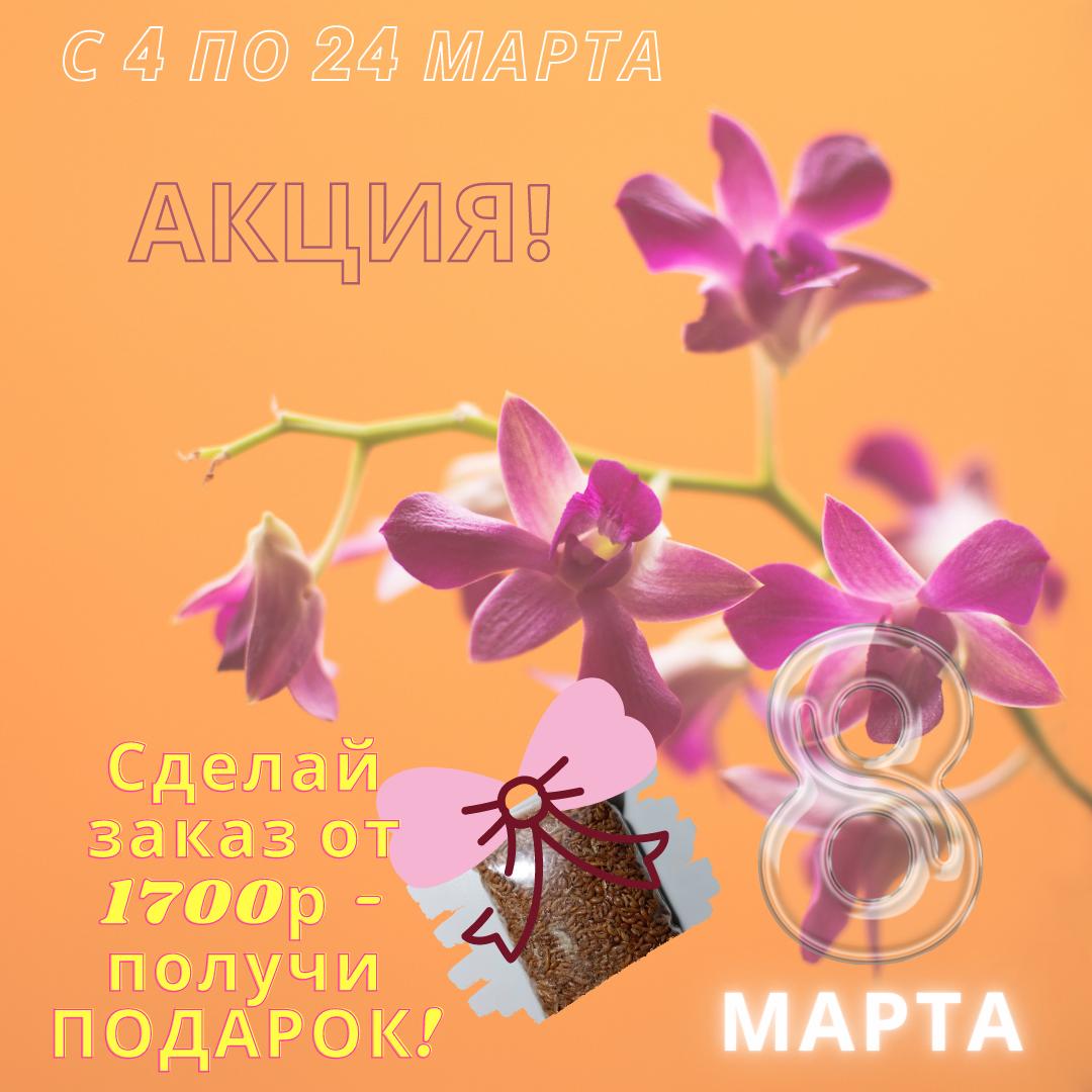 Подарок за покупку от 1700р с 4 по 24 марта