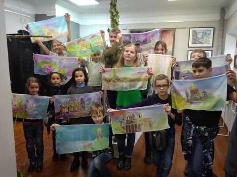 Роспись картин на шелке для детей