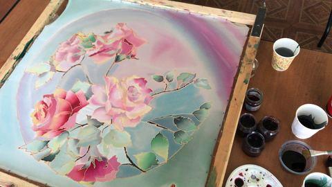 Творческий девичник - роспись шелковых платков