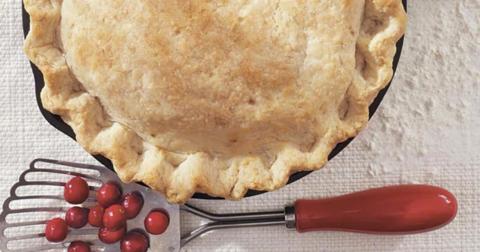 Яблочный пирог с клюквой