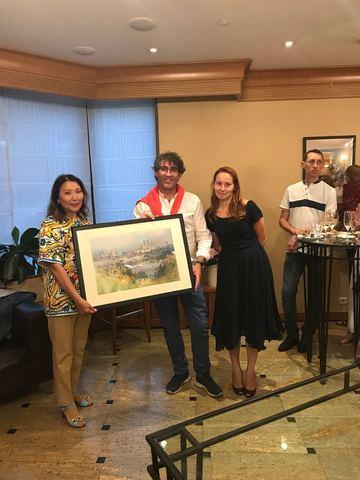 Открытие выставки акварельных картин Игоря и Екатерины Сава