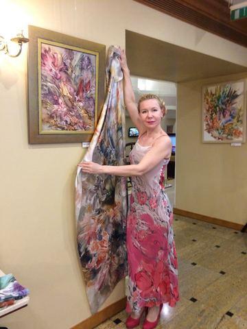 Выставка картин Евгения Захарова в Марриотт Отель Тверская 2018