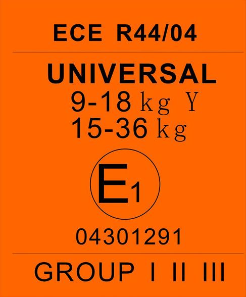 Сертификат ECE R44/03 и ECE R44/04 для автокресла