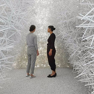 Робот построил пластиковый павильон из 120 000 деталей