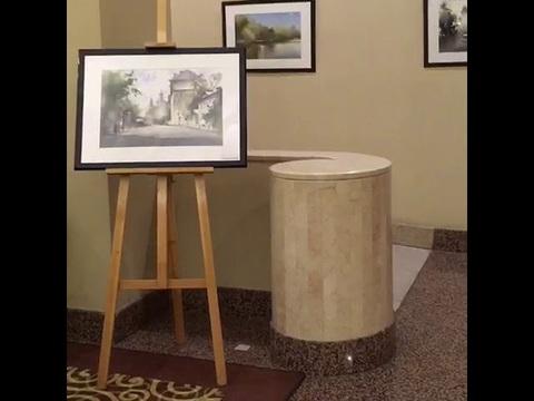 Выставка картин в технике батик в отеле Мариот. Апрель 2018 г.