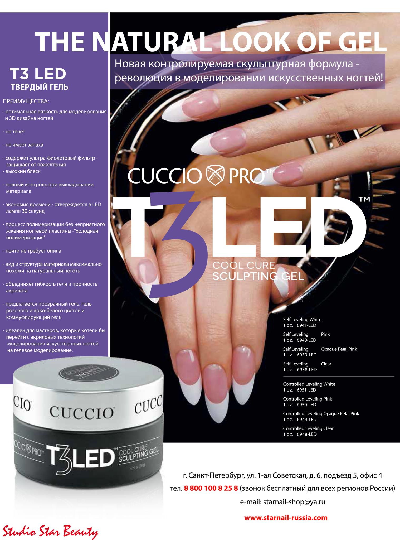 T3 LED/UV-Универсальный Гель