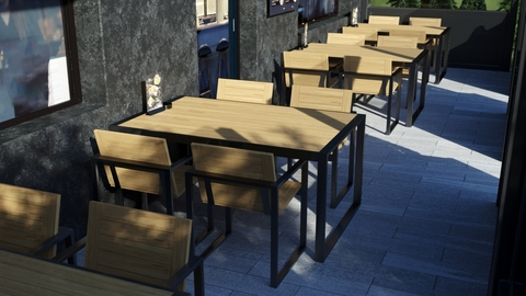 Furniture for the summer terraces of St. Petersburg restaurants
