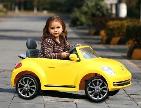 Детские электромобили - желтые